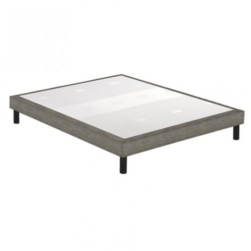 Sommier tapissier Epeda Confort Medium 3 Zones Déco Chiné Marron