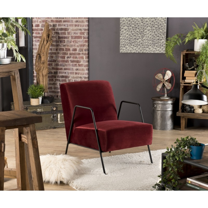 Fauteuil Lounge AGATHA Rouge